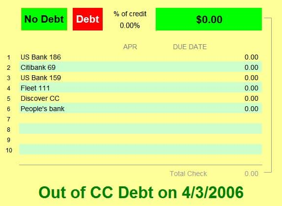Out of Debt snip